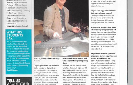 Drummer Magazine Article - click to view